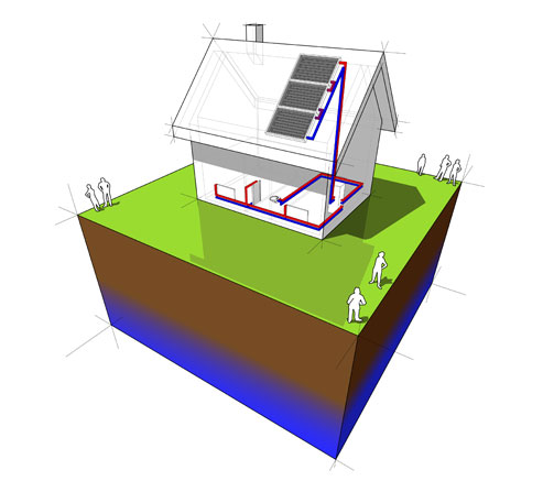 A solar thermal storage system for providing hot water