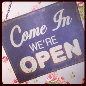 come on in were open